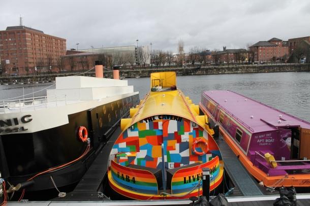 The Yellow Submarine hotel in the Albert Dock