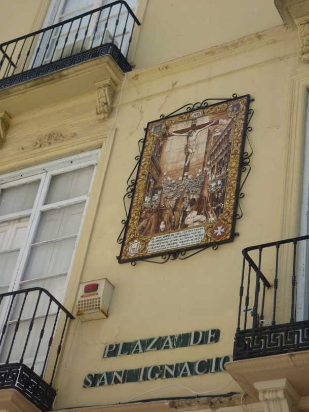 Malaga building close-up