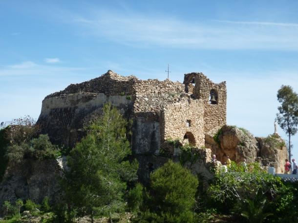 The rock church at Mijas