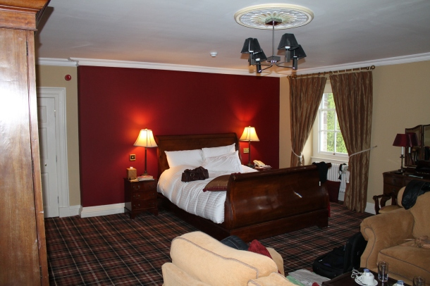 Our bedroom at Peterstone Court