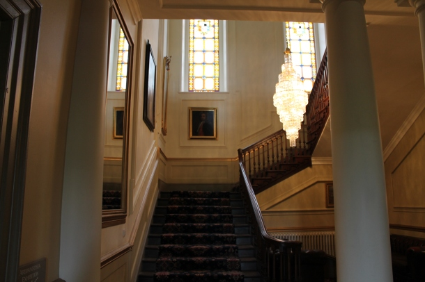 The sweeping staircase at Nanteos