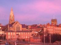 Sunset from Broadmarsh car park, Nottingham. No filter
