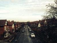 West Bridgford rooftops from the Green Line
