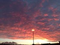 Sunset at Riverside Retail Park, Nottingham. No filter